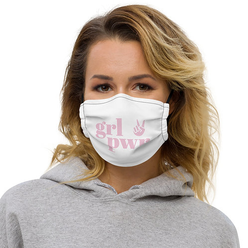 "Rock the ""Girl Power"" message on this premium face mask"