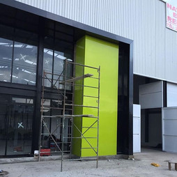Instalación Panel de Aluminio Compuesto para bodegas