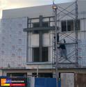 Fachada con Panel de Aluminio perforado