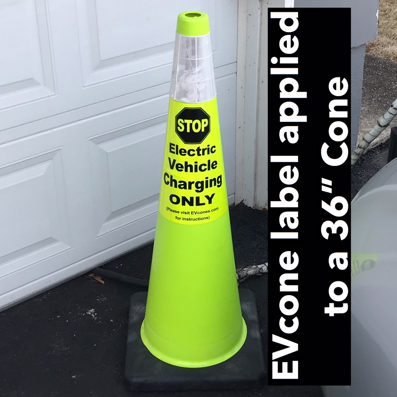 "36"" Lime green Cone"