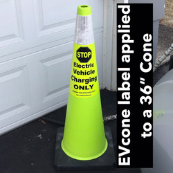 """36"""" Lime green Cone"""
