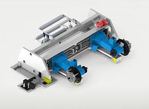 floor pickup shaftless unwind paper converting cms industrial technologies