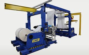 pilot line unwind moisturizer cms industrial technologies