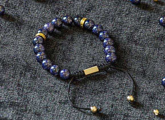 Galaxy Blue Adjustable Bracelet
