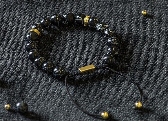 Royal Black Adjustable Bracelet