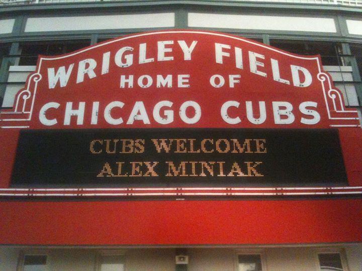 Wrigley Field Alex Miniak marquee