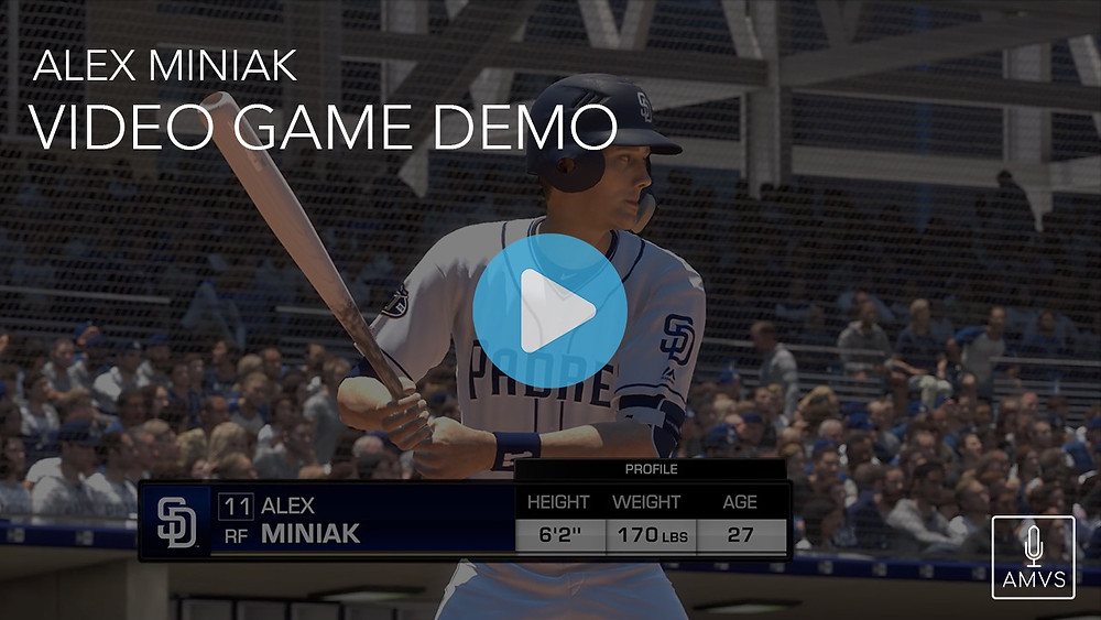 Alex Miniak Video Game Demo MLB The Show Sony PlayStation PS4