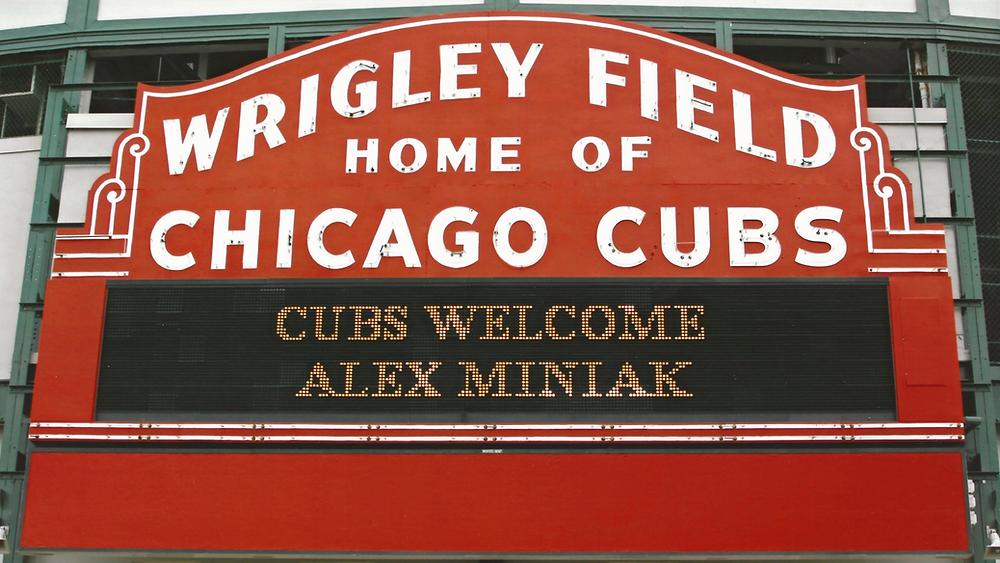 Wrigley Field marquee Chicago Cubs Alex Miniak