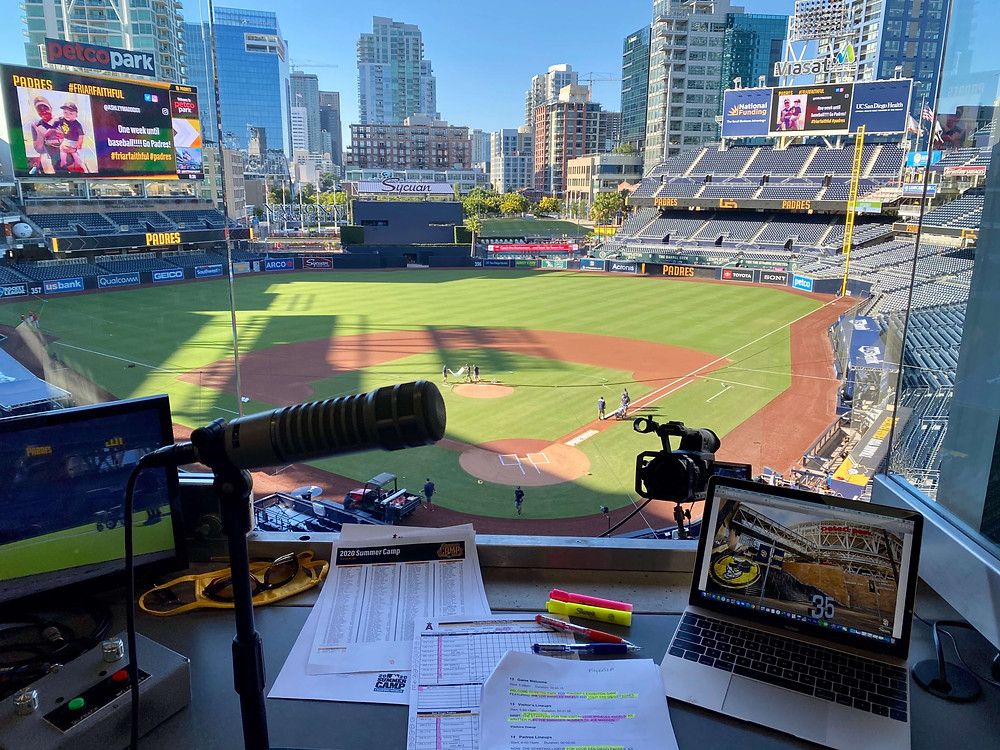 San Diego Padres Petco Park PA Announcer Booth 2020