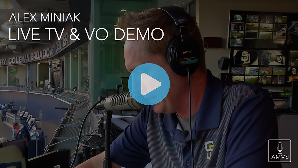 Alex Miniak Live TV VO Demo Voiceover Voice Over