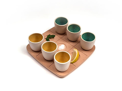 WOODY TicTacToe - Drinking set