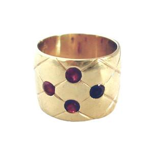 Burmese Rubies & 18Kt  Gold Ring