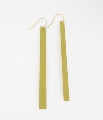 "3"" Brass Bar Earring"