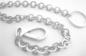 SiIlver 9mm Link Key Chain