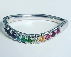 Raindbow Wedding Band