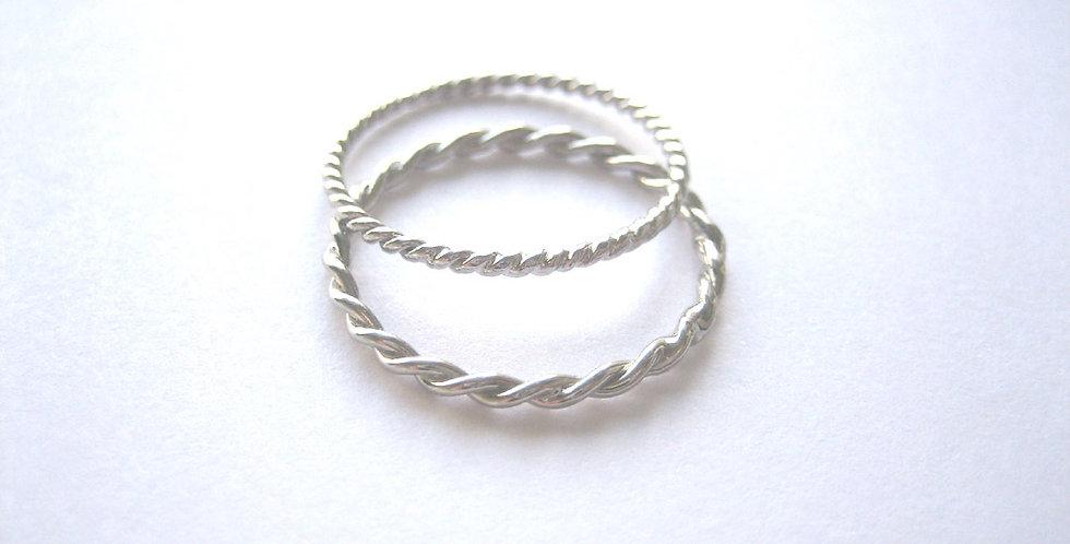 Silver Friendship RIngs
