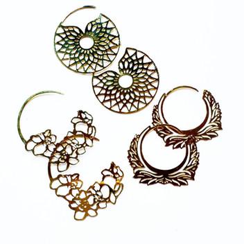 Hoop Earrings Brass