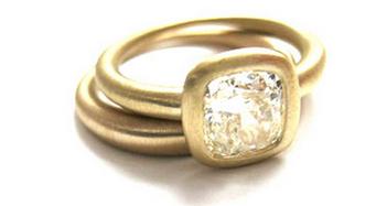 Gold Asher Diamond Engagement Ring