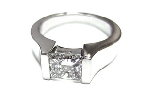 Diamond Tension Set Engagement Ring
