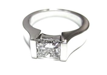 Diamond Tension Set Engagement Ring
