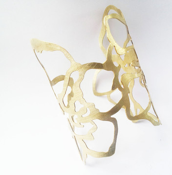 Orchid Brass Cuff