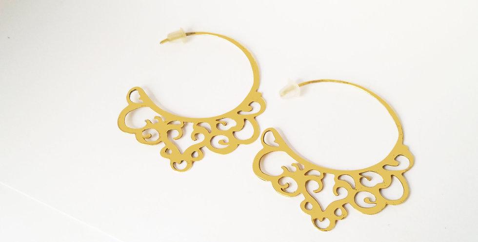 Florentine Brass Hoop