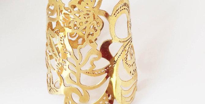 Dragon Floral  Cuff
