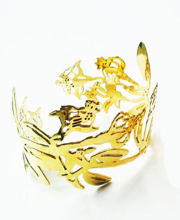 Brass Fuschia Cuff