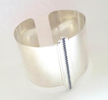 Silver & Sapphire Cuff