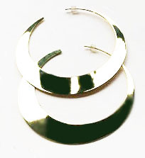 Brass Cresent Hoop