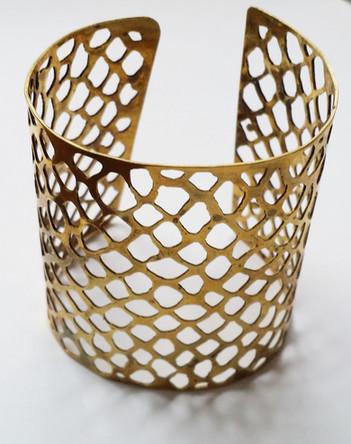 Lace Socking Brass Cuff