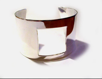 SSterling Silver  Square Cuff