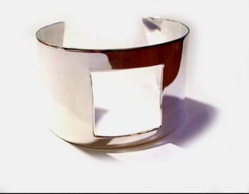 SSterling Silver  Square Cuff