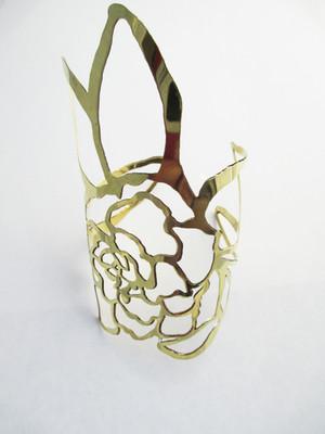 Gardenia Brass Cuff
