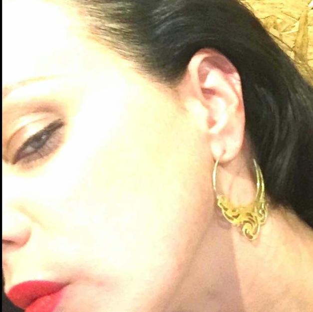 Debi Mazar Hoop Earring