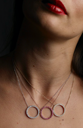 Diamond, Citrine Ruby Gold Necklaces