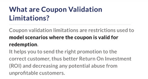 coupon marketing strategy: what are coupon validation limitations