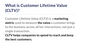 coupon marketing strategy: what is customer lifetime value CLTV?