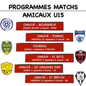 Matchs amicaux U15