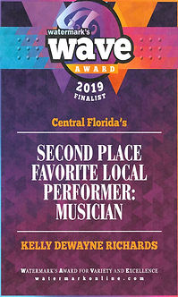 2019 Wave Award 2nd Place Favorite Local Performer: Musician