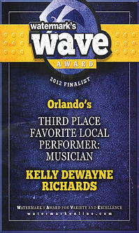 2012 Wave Award 3rd Place Favorite Local Performer: Musician