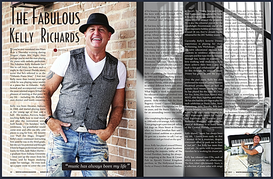 Winter Garden Magazine Article Entitled The Fabulous Kelly Richards