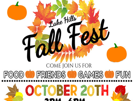 2nd Annual Fall Festival