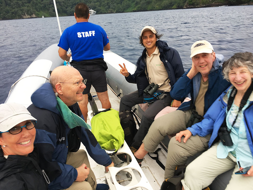 "The ""A"" team toward their first expedition in Chatam Bay"