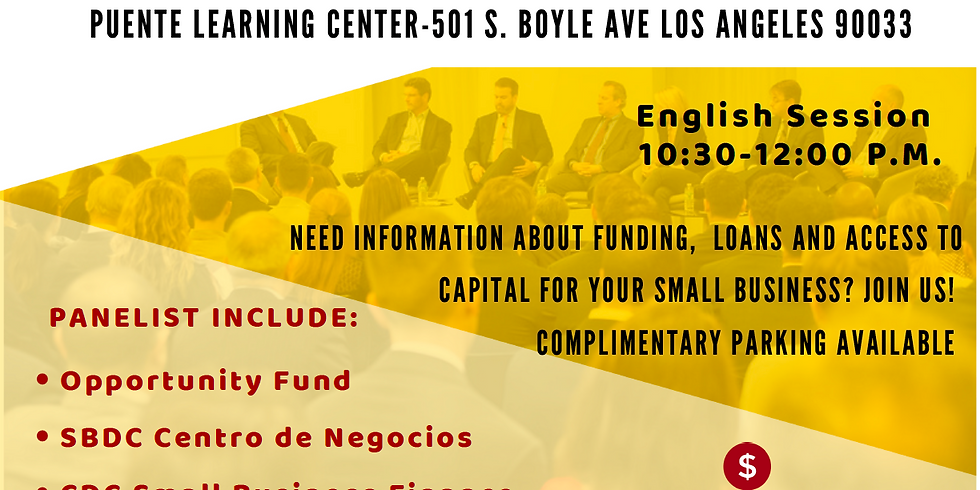 Small Business Micro Lenders Forum (English Session)