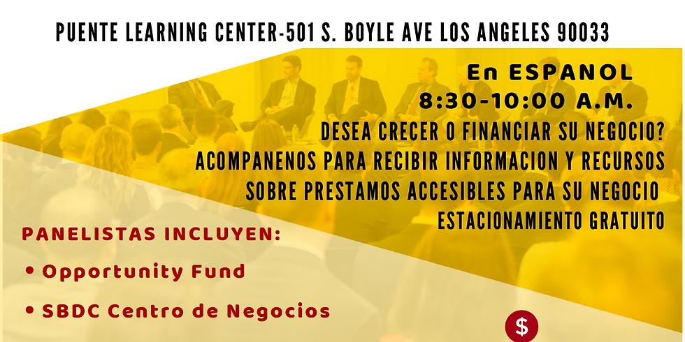Foro de Micro Presamistas Para Pequeñas Empresas (En Espanol)