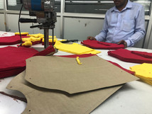 Sorting of fabrics after cutting