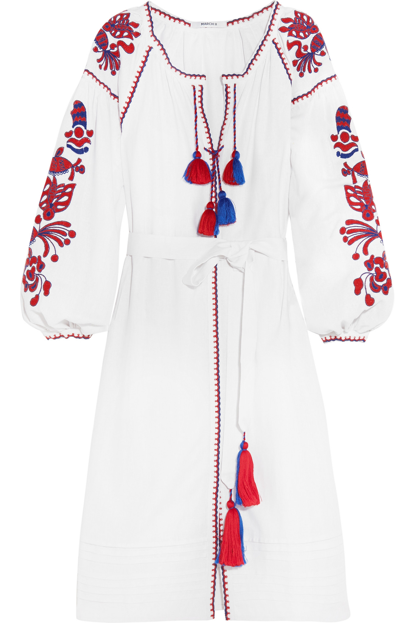 Women's Embroidered Dress with Tasse