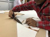 Sample cutting at Billoomi Fashion