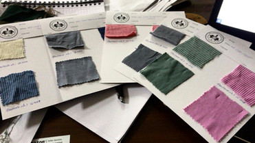 A typical way to send fabric swatches to clients at Billoomi Fashion